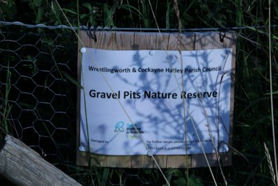 Makeshift nature reserve sign